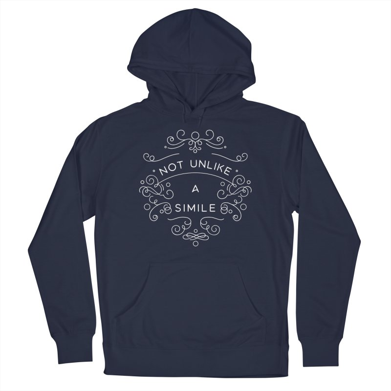Not Unlike a Simile Men's Pullover Hoody by BumbleBess