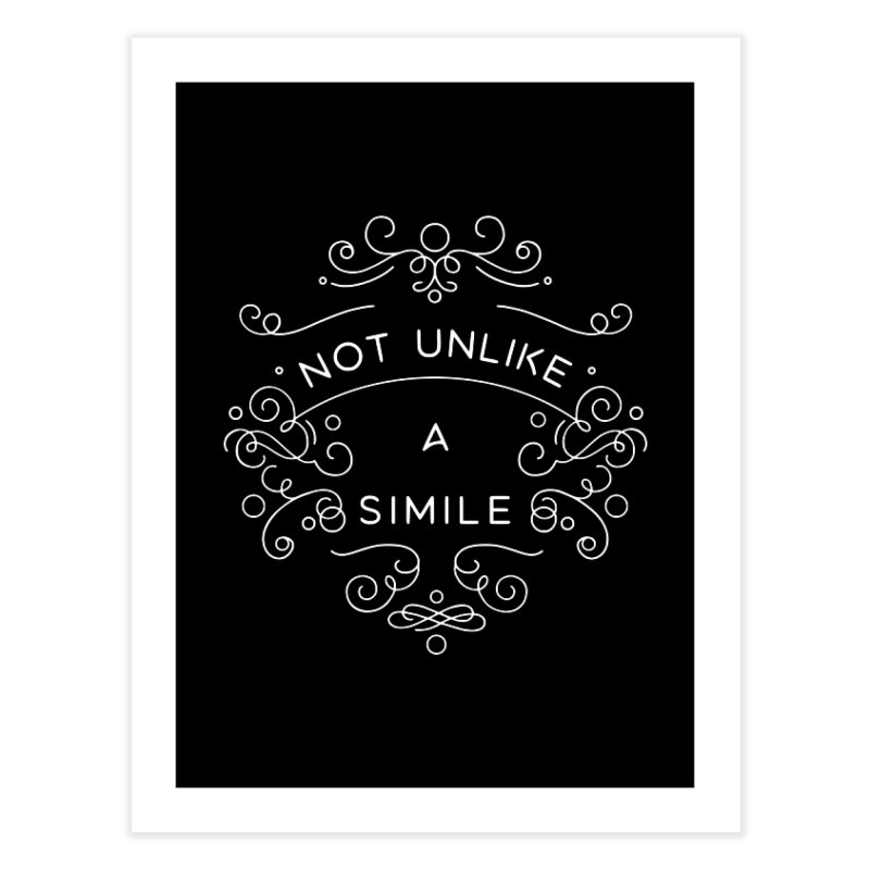 Not Unlike a Simile Home Fine Art Print by BumbleBess