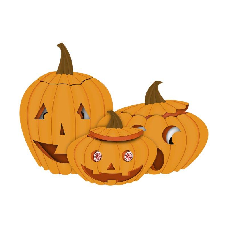 Carved Pumpkins - Happy Halloween Men's T-Shirt by ButterflyInTheAttic's Artist Shop