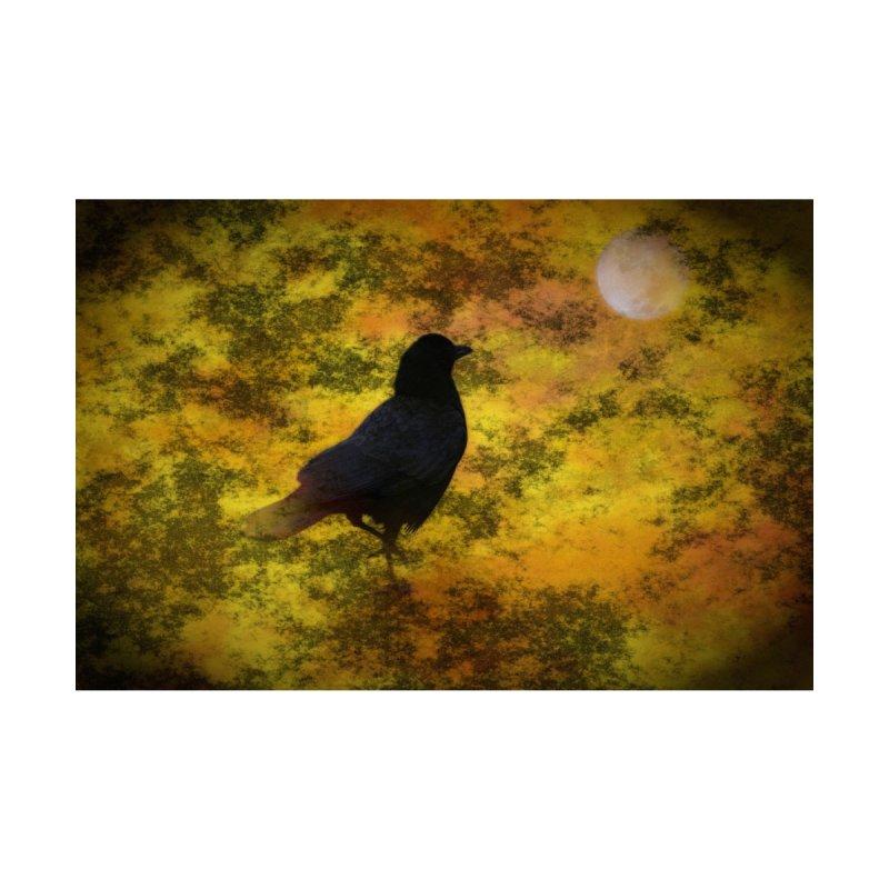 Black Raven Staring At The Moon Digital Art Men's T-Shirt by ButterflyInTheAttic's Artist Shop