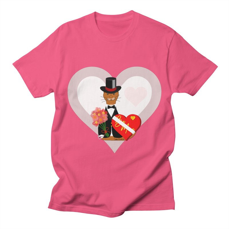 Oliver's Valentines Date With Heart Background Men's T-Shirt by ButterflyInTheAttic's Artist Shop