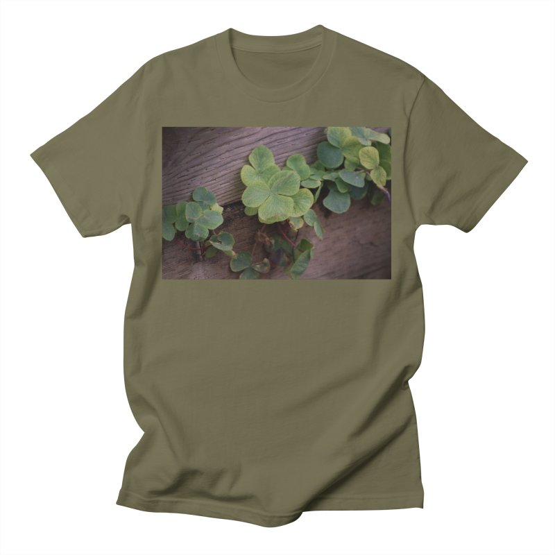 Lucky or Determined? Saint Patricks Day Shamrocks Men's T-Shirt by ButterflyInTheAttic's Artist Shop