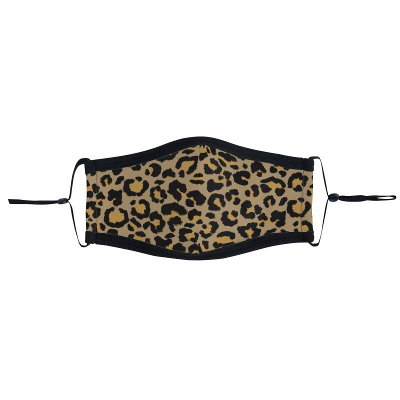 Leopard Pattern in Natural  2 Accessories Face Mask by ButterflyInTheAttic's Artist Shop