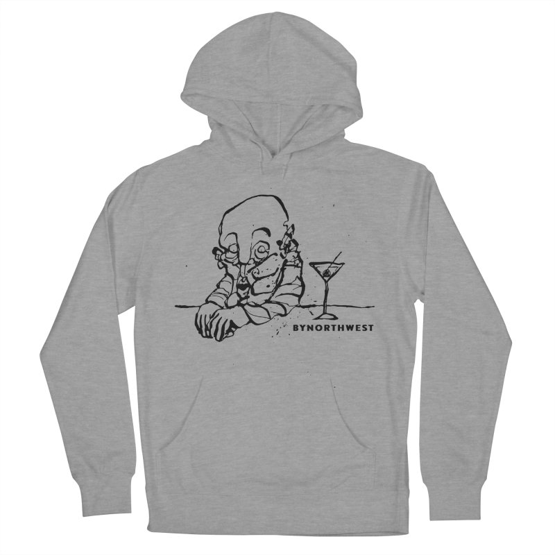 Whiskey (Black) Men's French Terry Pullover Hoody by ByNorthwest Store