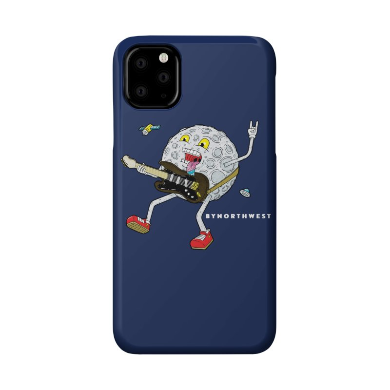 Moon Man (white text) Accessories Phone Case by ByNorthwest Store