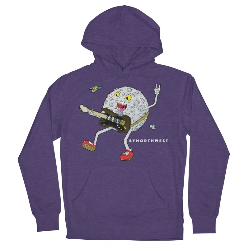 Moon Man (white text) Men's French Terry Pullover Hoody by ByNorthwest Store