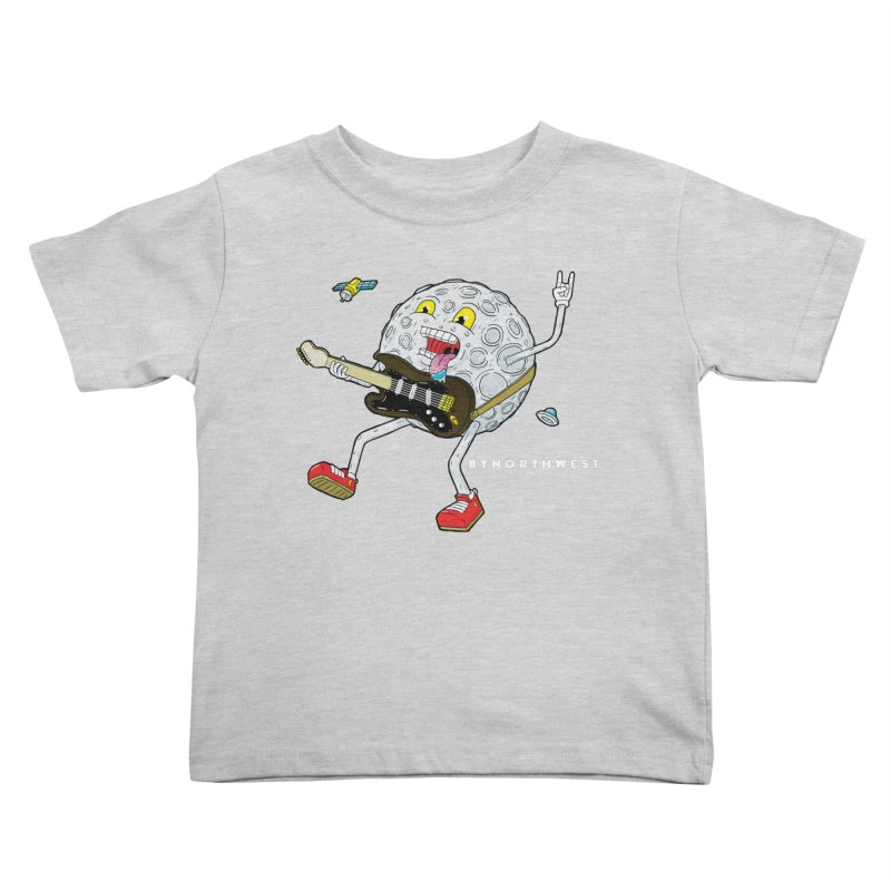 Moon Man (white text) Kids Toddler T-Shirt by ByNorthwest Store