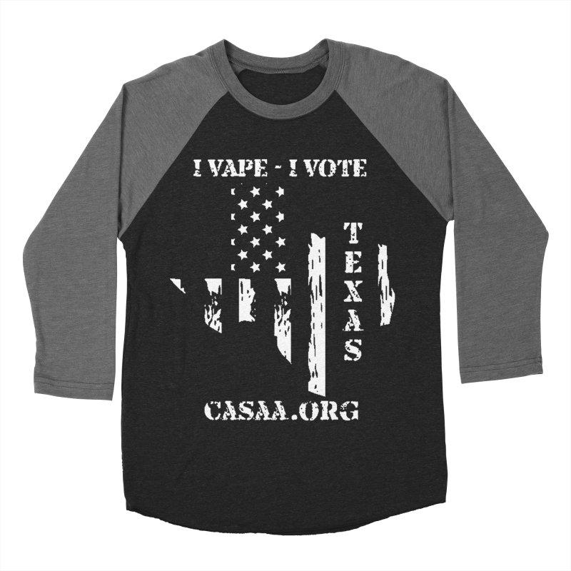 Texas Men's Baseball Triblend Longsleeve T-Shirt by CASAA Store