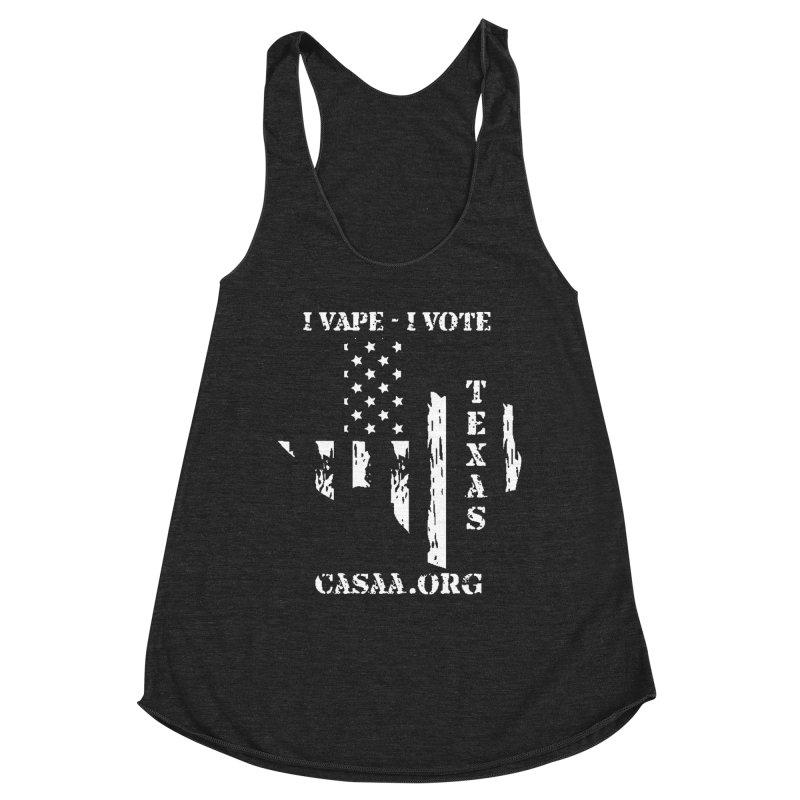 Texas Women's Racerback Triblend Tank by CASAA Store