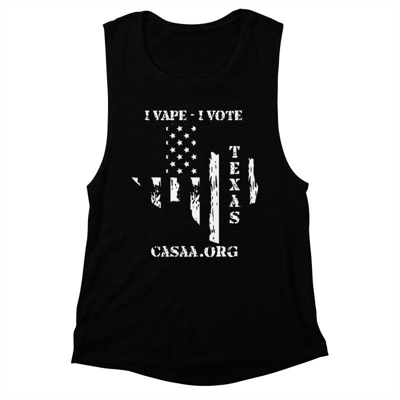 Texas Women's Muscle Tank by CASAA Store