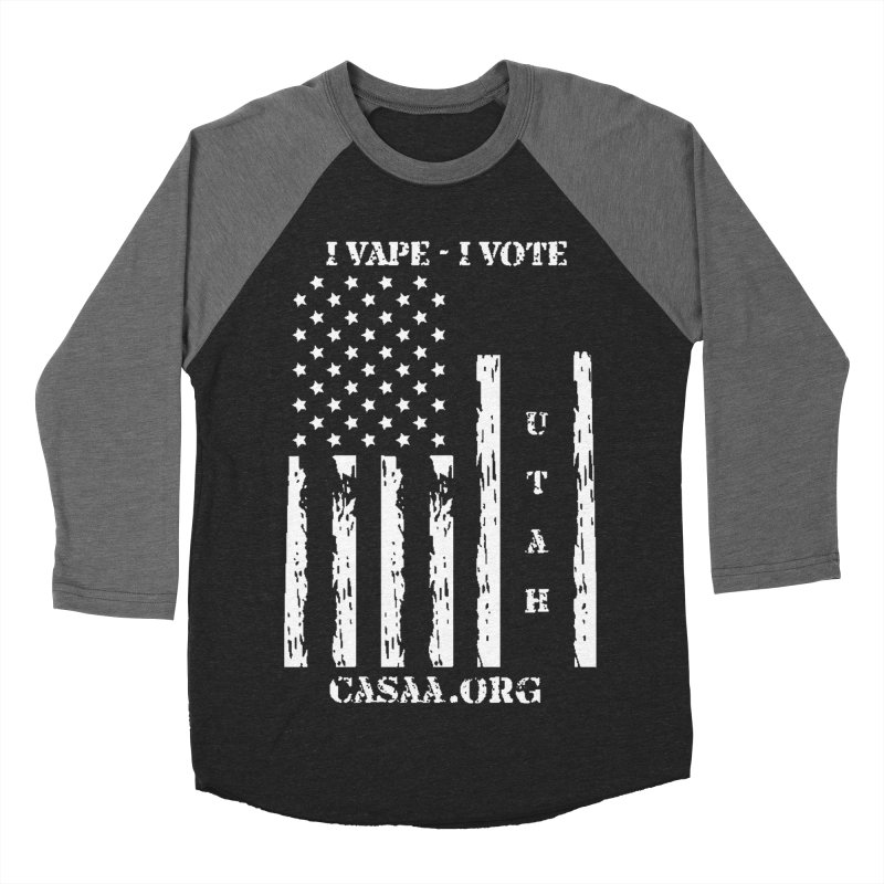 Utah Men's Baseball Triblend Longsleeve T-Shirt by CASAA Store