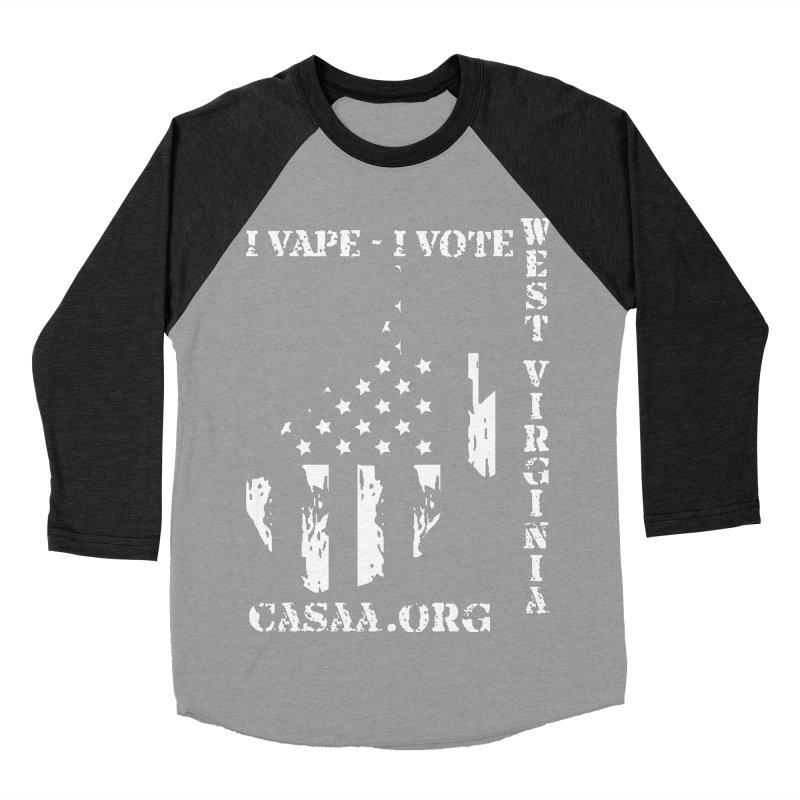 West Virginia Men's Baseball Triblend Longsleeve T-Shirt by CASAA Store