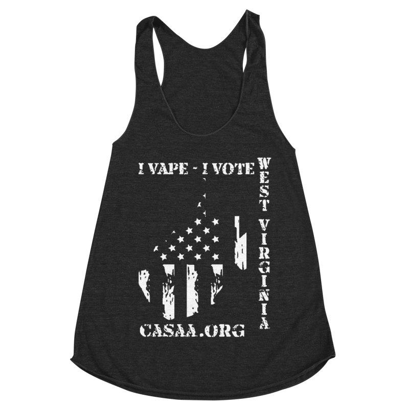 West Virginia Women's Racerback Triblend Tank by CASAA Store