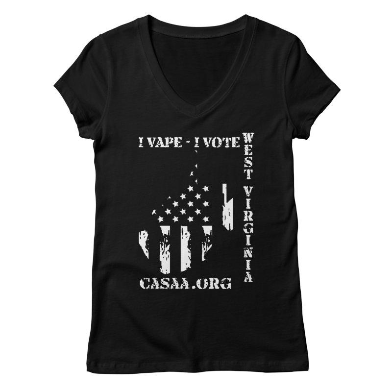West Virginia Women's Regular V-Neck by CASAA Store