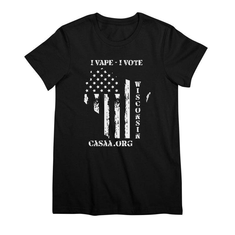 Wisconsin Women's Premium T-Shirt by CASAA Store