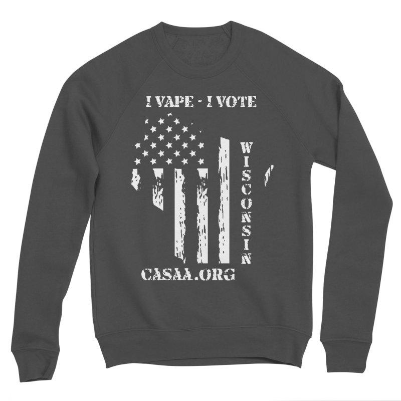 Wisconsin Men's Sponge Fleece Sweatshirt by CASAA Store