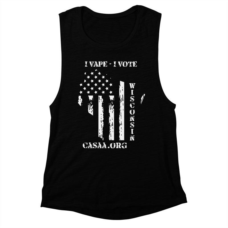 Wisconsin Women's Muscle Tank by CASAA Store