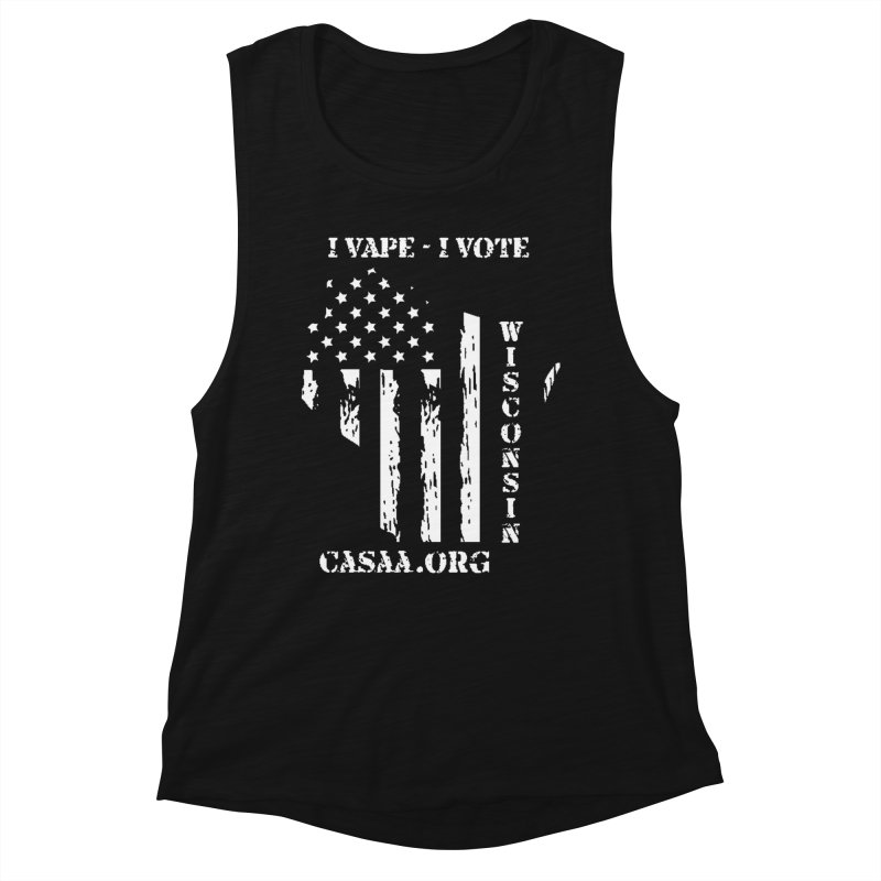 Wisconsin Women's Muscle Tank by CASAA Store