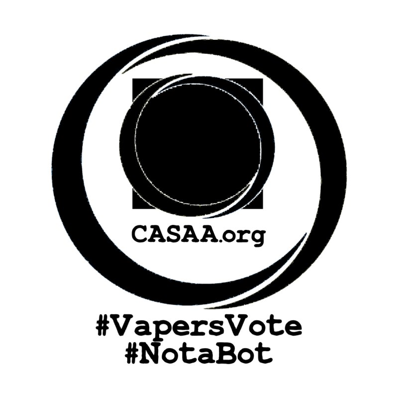 Vapers Vote / Not A Bot Men's Zip-Up Hoody by CASAA Store