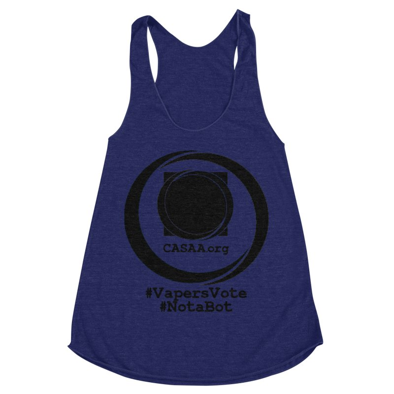 Vapers Vote / Not A Bot Women's Racerback Triblend Tank by CASAA Store