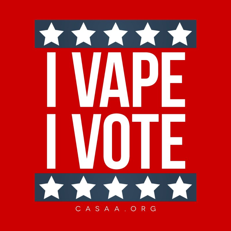 I Vape I Vote Men's Zip-Up Hoody by CASAA Store