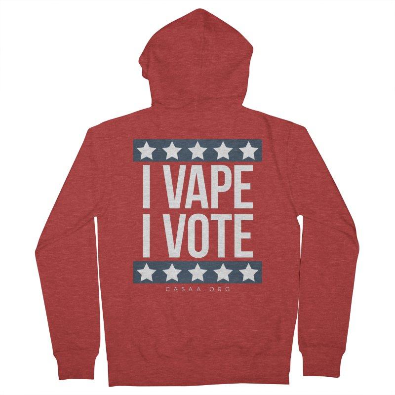 I Vape I Vote Men's Zip-Up Hoody by CASAA Store