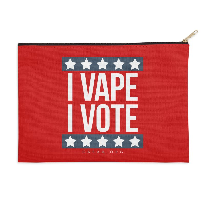 I Vape I Vote Accessories Zip Pouch by CASAA Store