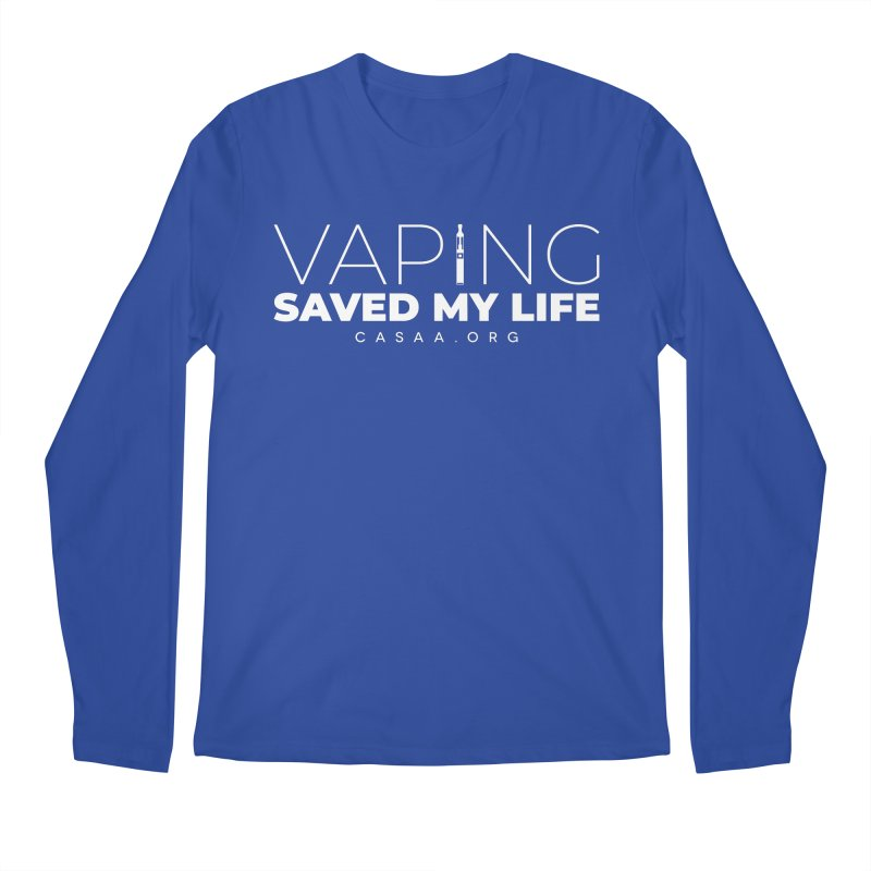 Vaping Saved My Life Men's Longsleeve T-Shirt by CASAA Store