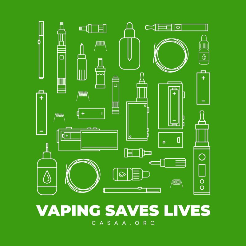 Vaping Saves Lives Men's Longsleeve T-Shirt by CASAA Store
