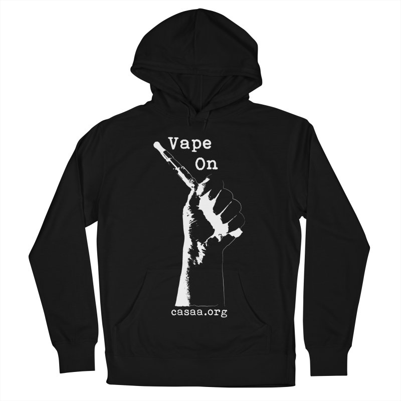 Vape On in Men's French Terry Pullover Hoody Black by CASAA Store