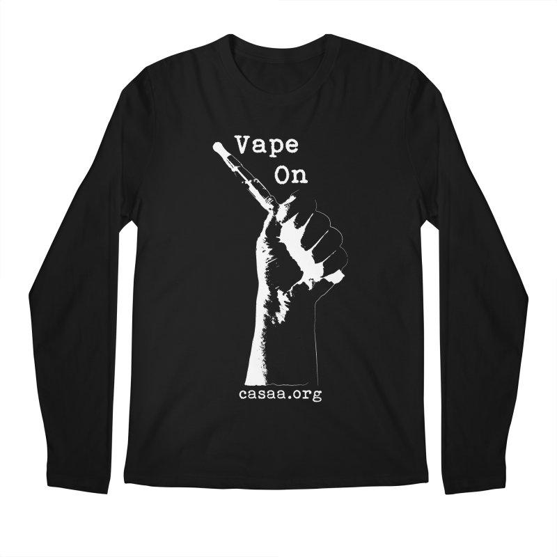 Vape On in Men's Regular Longsleeve T-Shirt Black by CASAA Store