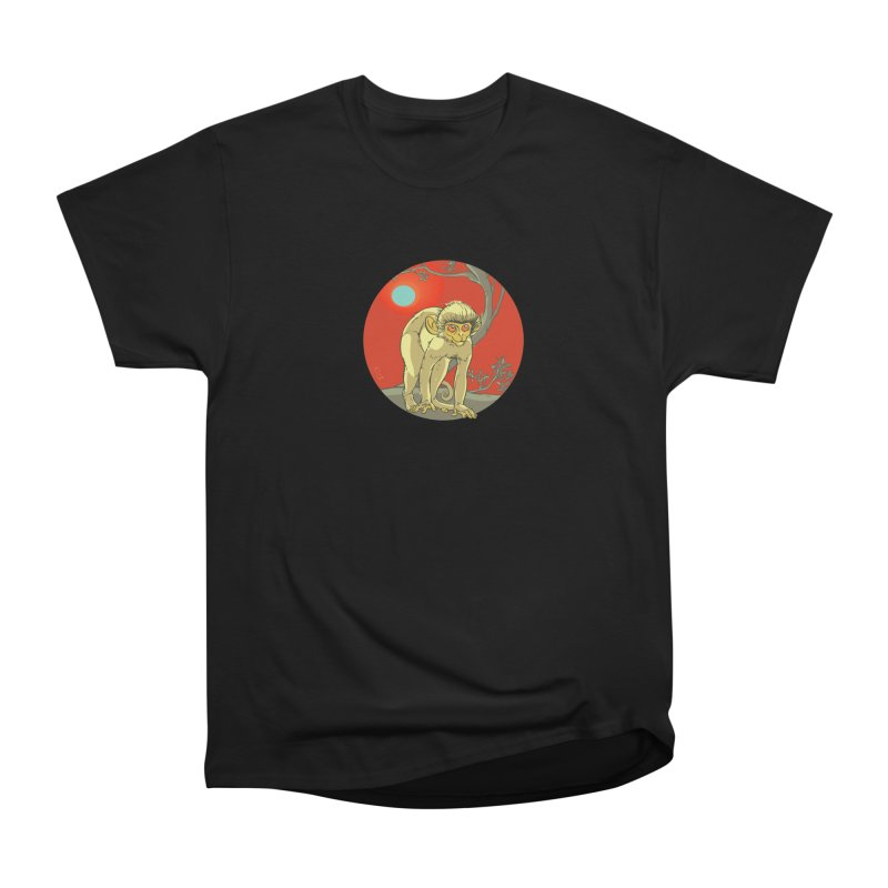 Monkey Zodiac Men's Heavyweight T-Shirt by CB Design