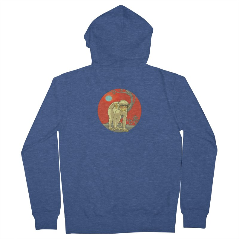 Monkey Zodiac Women's French Terry Zip-Up Hoody by CB Design