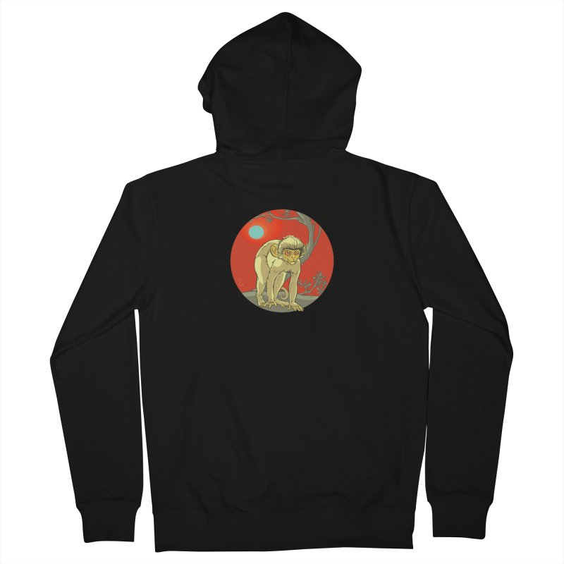 Monkey Zodiac Men's French Terry Zip-Up Hoody by CB Design