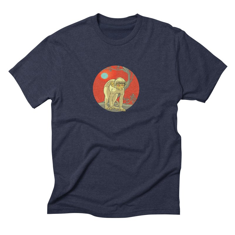 Monkey Zodiac Men's Triblend T-Shirt by CB Design