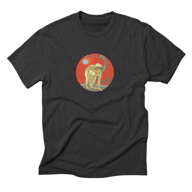 Monkey Zodiac Men's Triblend T-Shirt by CB Design