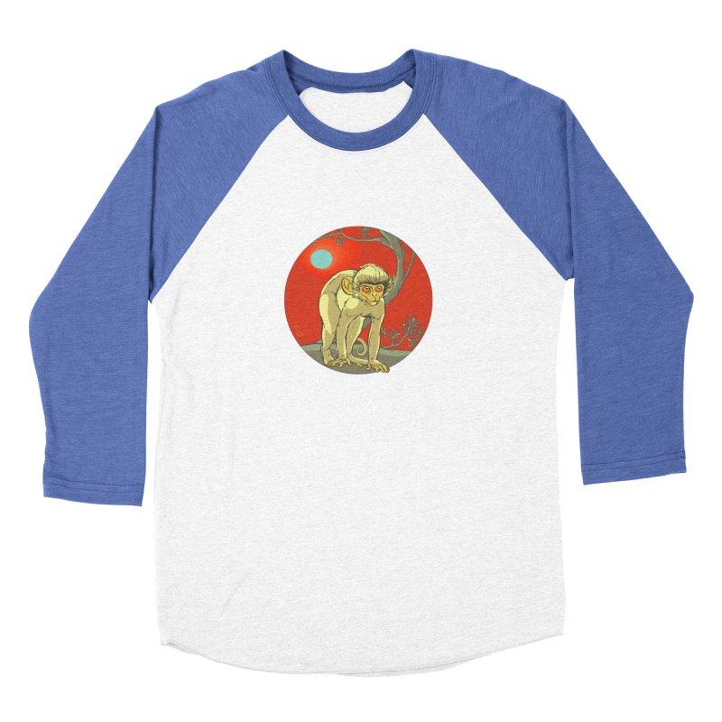 Monkey Zodiac Women's Baseball Triblend Longsleeve T-Shirt by CB Design