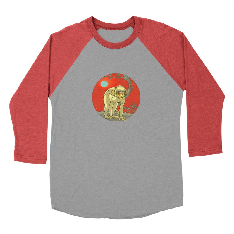Monkey Zodiac Women's Baseball Triblend Longsleeve T-Shirt by CB Design