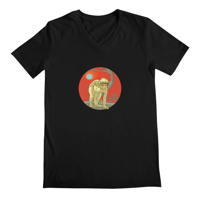 Monkey Zodiac Men's V-Neck by CB Design