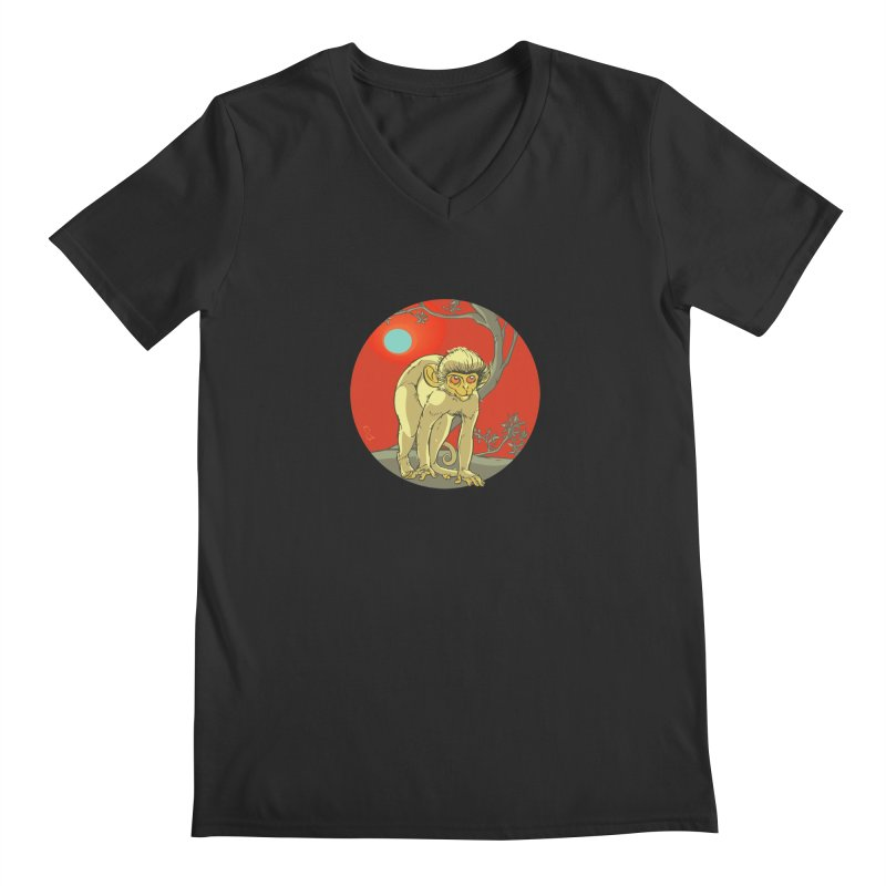 Monkey Zodiac Men's Regular V-Neck by CB Design