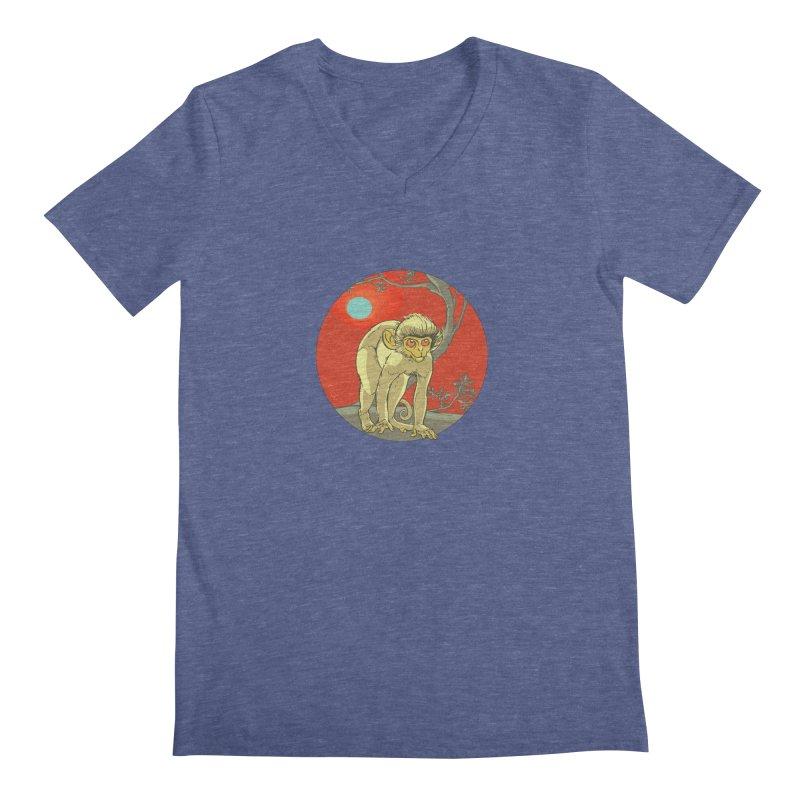 Monkey Zodiac Men's Regular V-Neck by CB Design