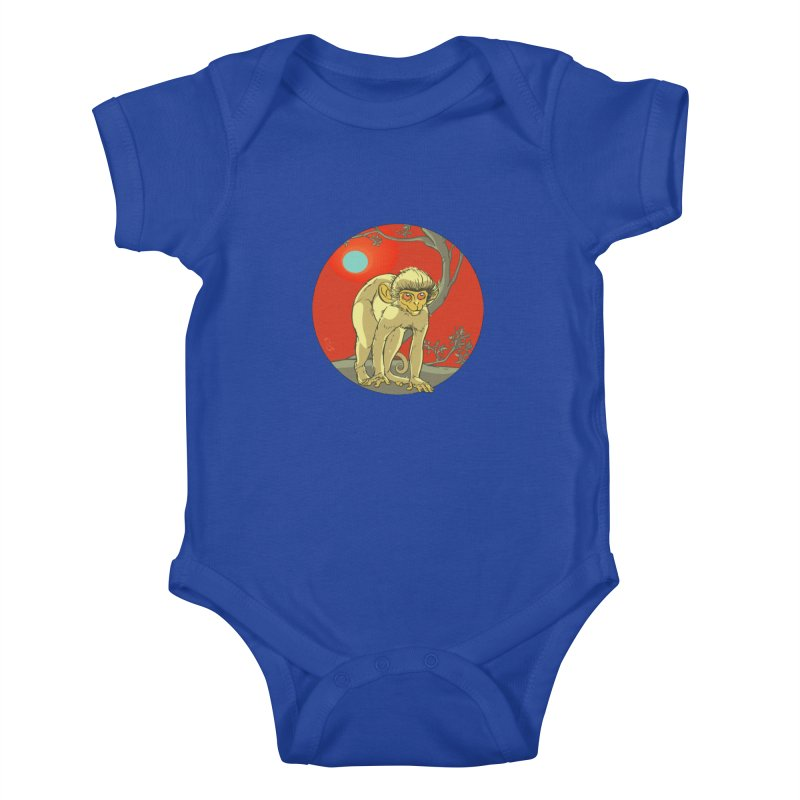 Monkey Zodiac Kids Baby Bodysuit by CB Design