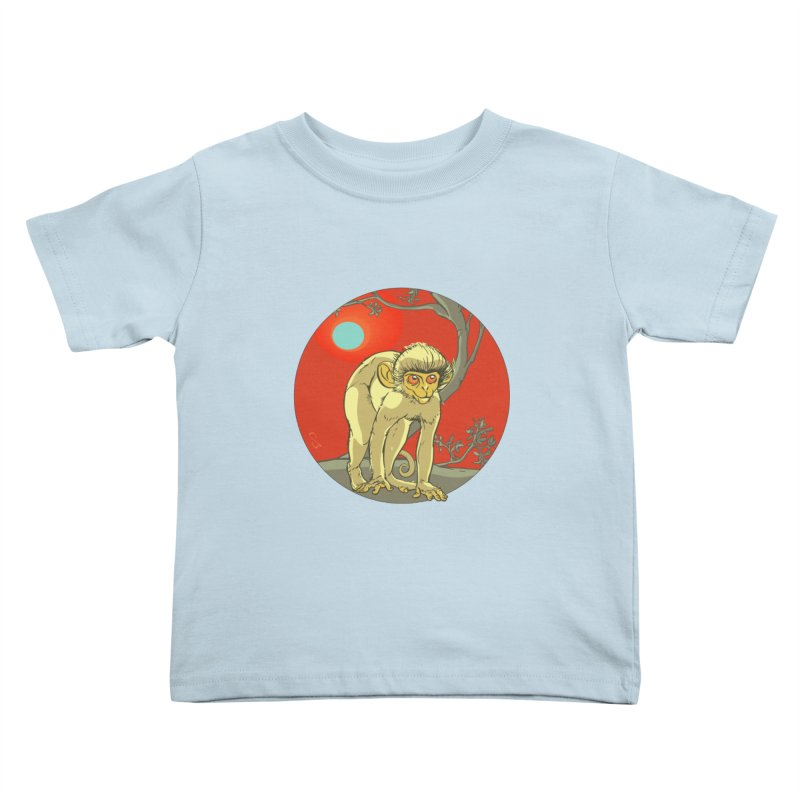 Monkey Zodiac Kids Toddler T-Shirt by CB Design