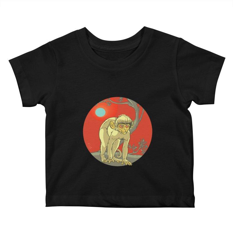 Monkey Zodiac Kids Baby T-Shirt by CB Design