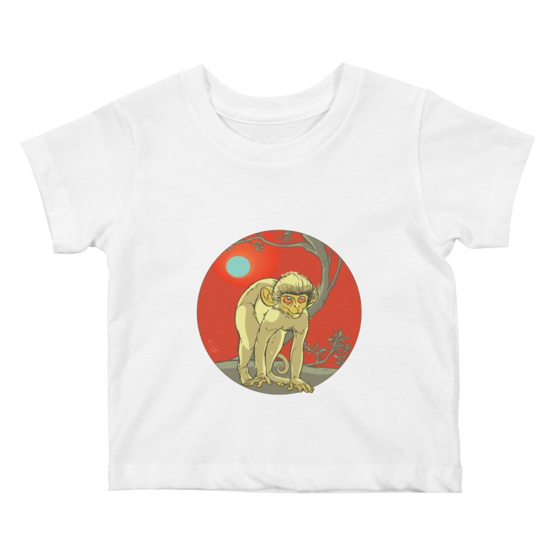 Monkey Zodiac Kids Baby T-Shirt by CB Design