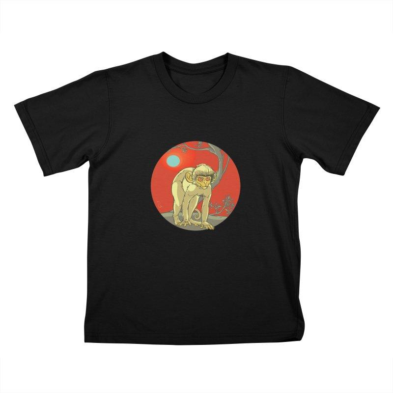 Monkey Zodiac Kids T-Shirt by CB Design