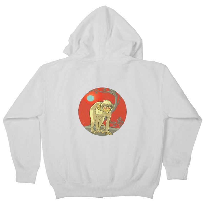 Monkey Zodiac Kids Zip-Up Hoody by CB Design