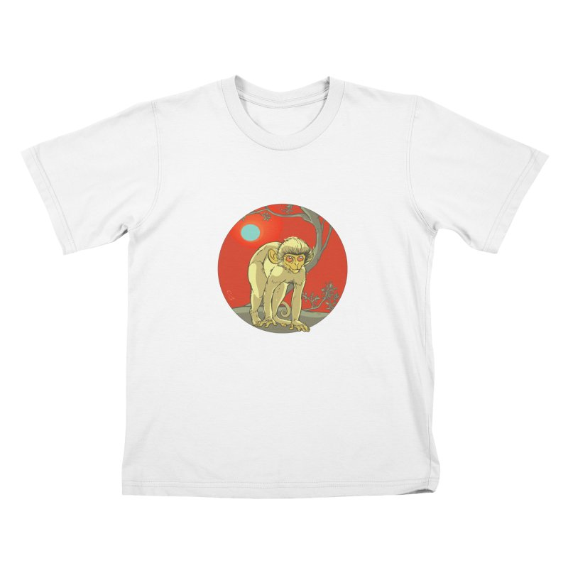Monkey Zodiac Kids T-Shirt by CB Design