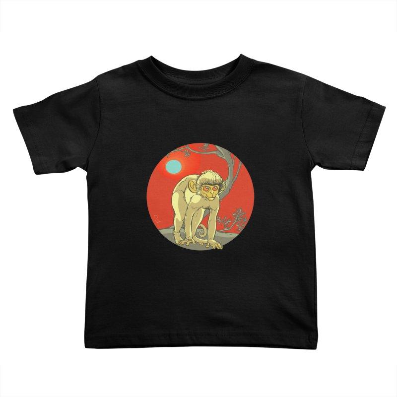 Monkey Zodiac Kids Toddler T-Shirt by CB Design