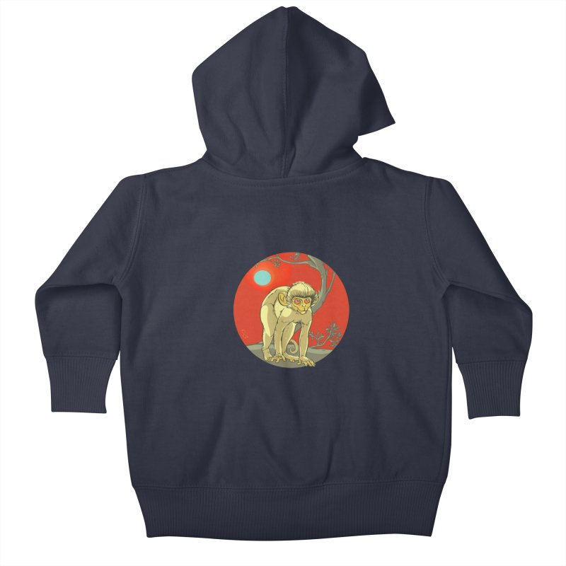 Monkey Zodiac Kids Baby Zip-Up Hoody by CB Design